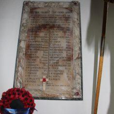 Much Hadham. Inside St Andrew's Church, Church Lane, SG10 6DL 1914-1918 | ERic Riddle