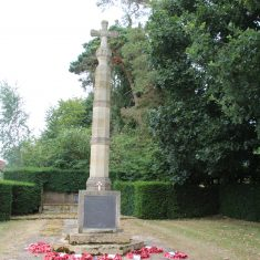Much Hadham Main Memorial, entrance to Moor Place, Tower Hill, SG10 6DL | Eric Riddle