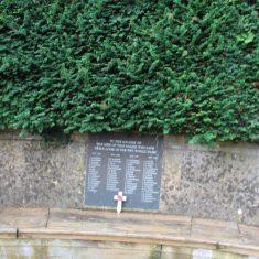 Much Hadham. As above location. Memorial stone semi-circular seat. | Eric Riddle