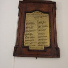 Standon, Old Puckeridge Church Memorial. Inside Standon Village Hall. SG11 1LE | Eric Riddle