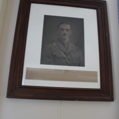 Standon. As above location. Soldier who died in 1st World War. whose mother was responsible for building Standon Village Hall | Eric Riddle