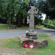 Brent Pelham. On small green close to St Mary's Church, on B1308 road heading down to Great Hormead. Conduit Lane SG9 0HE   Eric Riddle