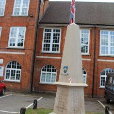 Hertford. At the front of Richard Hale School, Hale Road, SG13 8EN. | Eric Riddle