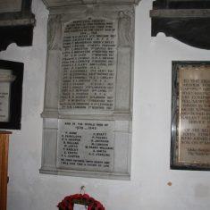 Broxbourne. St Augustine Church. Inside Church on plaque on wall. Churchfields EN10 7AU   Eric Riddle