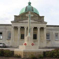 Haileybury College. Hertford Heath SG13 7NU. War Memorial between the Chapel and the playing fields.   Eric Riddle