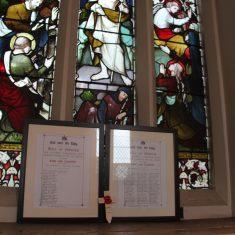Great Amwell. Roll of Honour. Inside St John The Baptist Church. St John's Lane. SG12 9SR   Eric Riddle