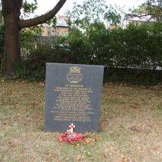 Hertford. In the grounds of All Saint's Church. Memorial to Herts Merchant Seamen. As you walk in the main gates, 50 yards on beside the path to the left. | Eric Riddle