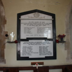 Graveley. Plaque inside St Mary's Church., Church Lane, SG4 7LY | Eric Riddle