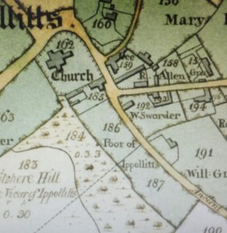 Detail from 1818 Enclosure map. | Courtesy of Hertfordshire Archives and Local Studies. Ref QS/E45