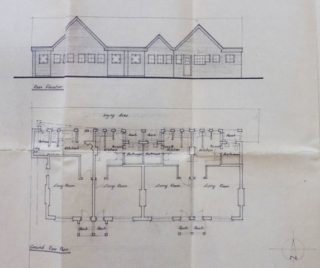 Alan Portbury's 1968 plans for extensions to the Queen Victoria Cottage Homes. | Courtesy of Lowewood Museum