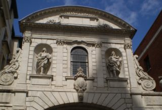 Temple Bar figures on St Paul's Cathedral side. Aug 2010 | Colin Wilson