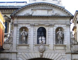 Temple Bar. Figures on the Paternoster Square side. Aug 2010 | Colin Wilson