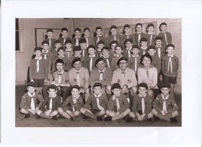 1965 - 2nd Waltham Cross Cubs at the (Now demolished) Holy Trinity Vicarage Hall