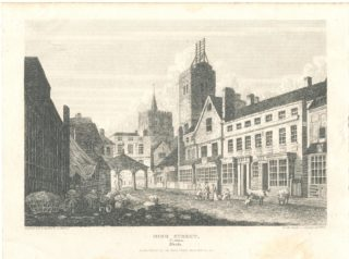 Market Place St Albans with Clock Tower   Hertfordshire Archives & Local Studies