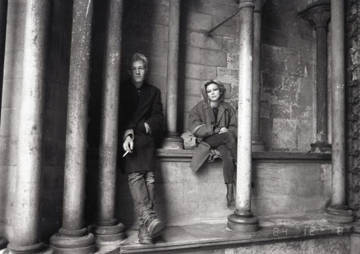 Chris Pearson and Nicola Beckles (1985) At the front of St Albans Cathedral.