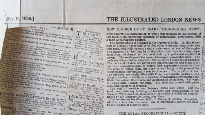 1853 Illustrated London News article