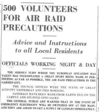 A call for volunteers - 1938
