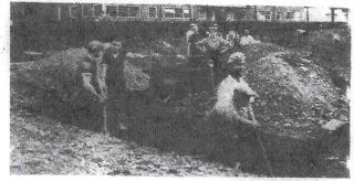 Trench digging in Welwyn Garden City - 1938
