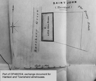 Detail from exchange document of 1857. | Courtesy of Hertfordshire Archives and Local Studies ref DP/48/25/4