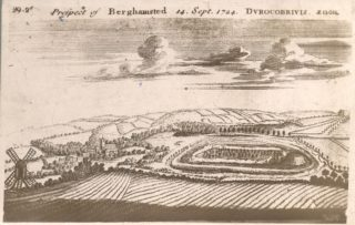 Prospect of Berkhampsted 1724 | Hertfordshire Archives & Local Studies