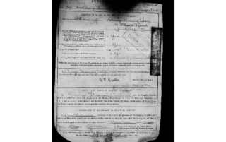 the form filled out at George T Cutler's enlistment