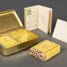 Christmas tins & cigarette cases