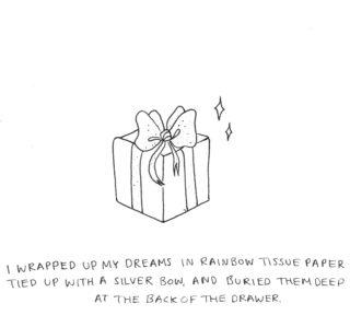 'Parcel of Dreams' Illustrated by Emma Phillips @emmaphillipsart (Instagram)