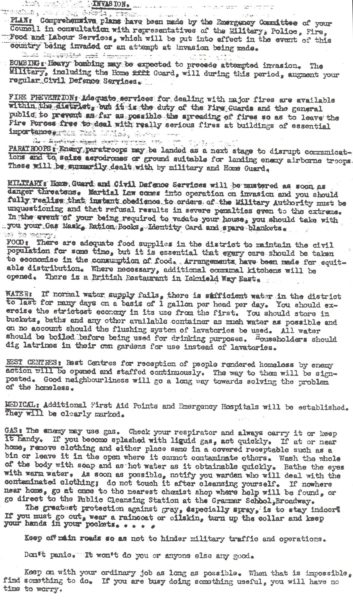 Letchworth Invasion Plan circa 1941 | Hertfordshire Archives and Local Studies