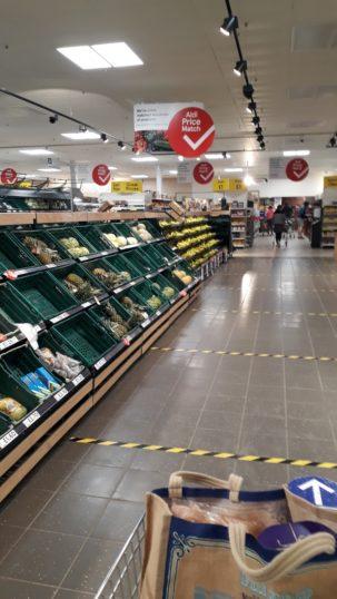 2 metre marks on floor