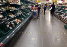 Strange times at the supermarket...