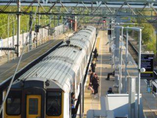 Passengers leaving the 1741 train Monday 20th April 2020 | Colin Wilson