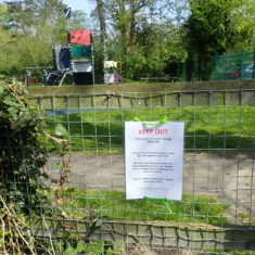 Children's playground closed | Lesley Cannon