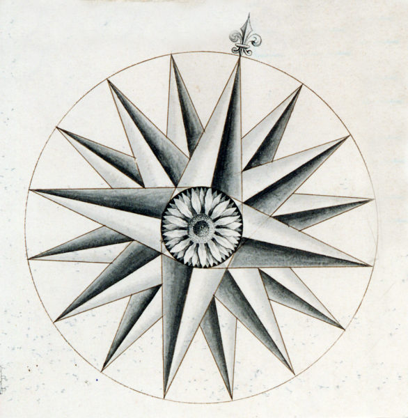 Compass Rose | copyright: Hertfordshire Archives and Local Studies
