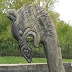 The dragon's head of the viking ship | Colin Wilson