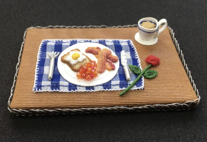 Stumpwork Breakfast Tray