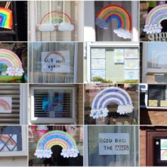 NHS Rainbows in house and shop windows | Lesley Cannon
