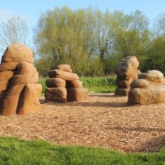 Play Boulders indicate some of the resources found in the Lee Valley | Colin Wilson