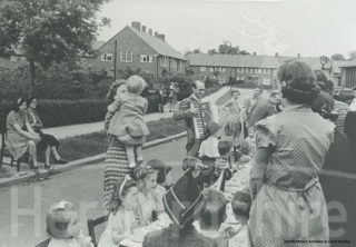 Children' party, Welwyn Garden City. [Local Studies collection, HALS] | Hertfordshire Archives and Local Studies