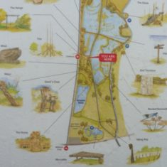 Map of the southern part of the sculpture trail | Lee Valley Regional Park Authority