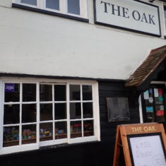 The Oak converted temporarily to a shop | Lesley Cannon