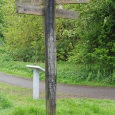 The Viking signpost. This side of the post refers to Alfred | Colin Wilson