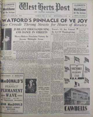 West Herts Post, 10 May 1945 | Hertfordshire Archives and Local Studies