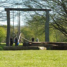 The Henge entrance, with Fire in the background | Colin Wilson
