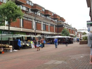 The market area looking south from the centre. 17 Jun 2020 | Colin Wilson