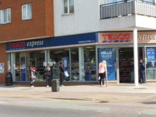 The queue outside Tesco Express | Colin Wilson