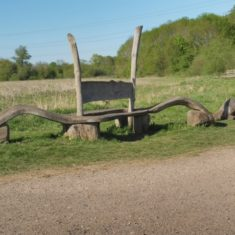 The other wildlife bench. The seat back is carved with fish and otters  | Colin Wilson