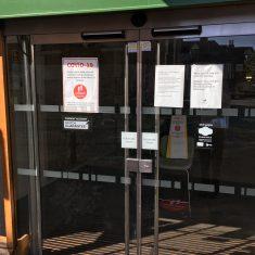 Lloyds Bank entrance, 15th May 2020 | Geoff Cordingley
