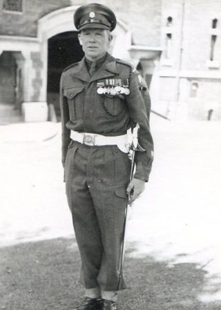 Leonard Frederick Butler with his medals