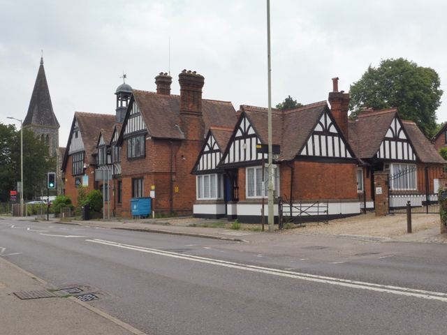 Gibbs almshouses. The buildings next to it are the synagogue and St Nicholas church. Jun 2020   Colin Wilson
