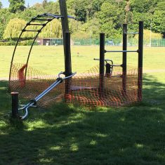 fenced activity on Hartham Common, 15th May 2020 | Geoff Cordingley